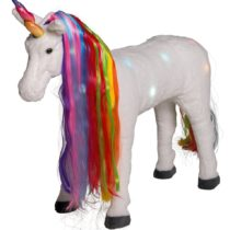 Happy People 58063 Unicorn with Light and Sound, Multi-Color