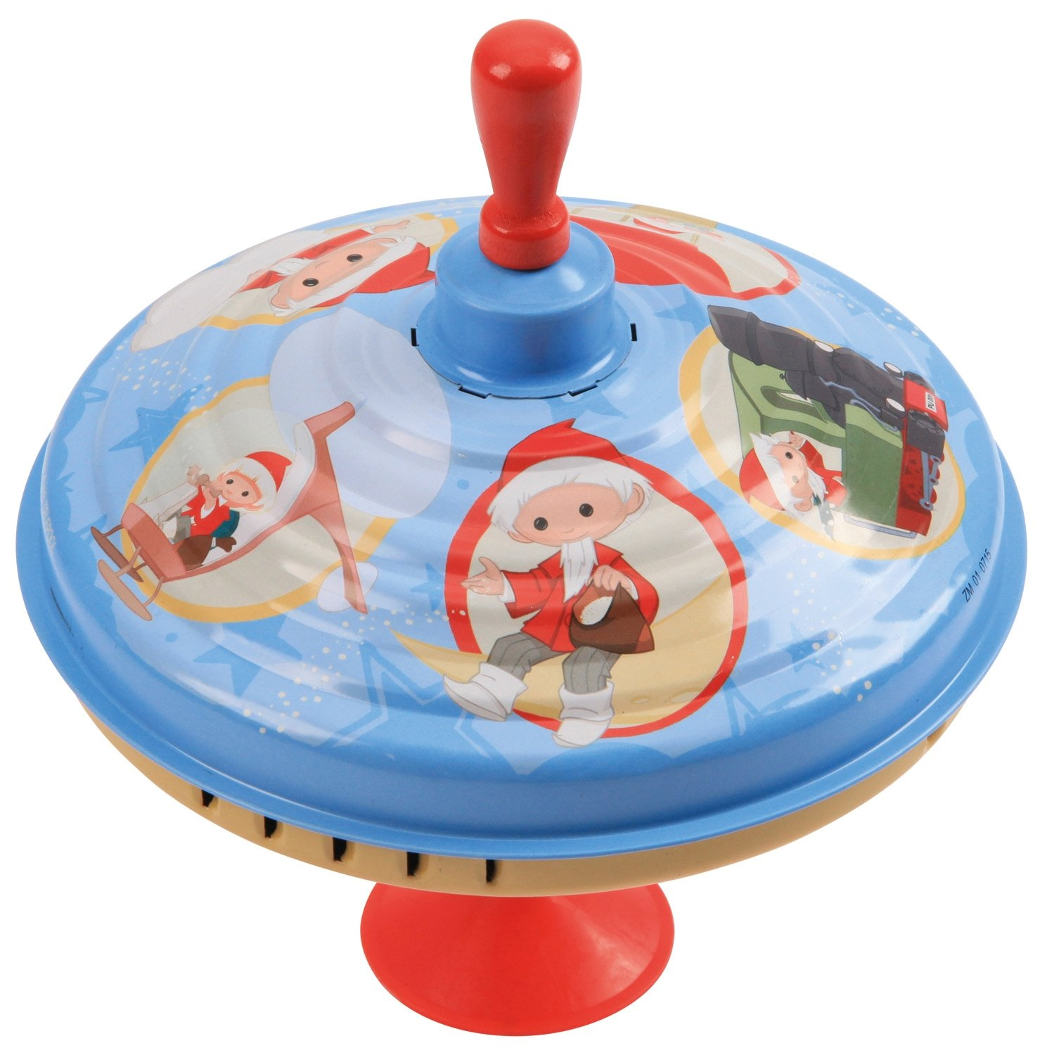 SIMM Spielwaren Bolz 52120 panorama spinning top with sound chip, railway noise