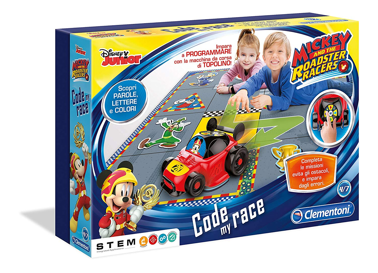Clementoni 12086Mickey Mouse Code My Race