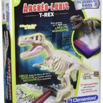 Clementoni–52068- Figurine–Tyrannosaurus Dinosaur Fluorescent