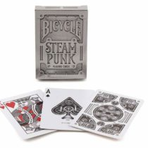 Bicycle 19900 Silver Steampunk Premium Poker Playing Cards Deck for Collectors