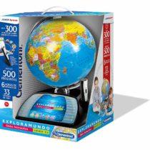 Clementoni–Explore The mundo-globo Interactive Premium, Multicoloured (55247)