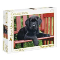 Clementoni 30346 Clementoni-30346-High Quality Collection-The Black dog-500Pieces, Multicolored