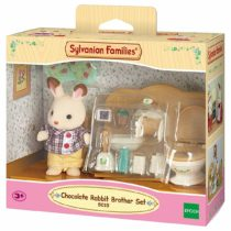Sylvanian Families 5015 Chocolate Brother with Bathroom Figure with Accessories, Multicolor
