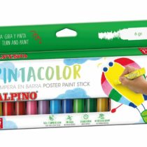 Alpine Solid PX000012 – 12 x Solid Tempera Paint Sticks, Multi-Coloured.