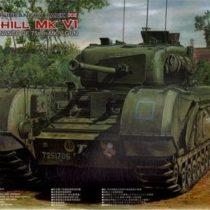 AFV Club AF35S52Churchill Mk VI Model Kit, 75mm
