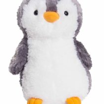 Aurora World Destination Nation Gray Penguin Plush Toy (Grey/White/Orange)
