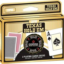 Copag 104006334201 Texas Holdem Double Deck with Dealer Button Card Game