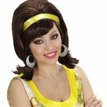 60s Mod – Brown Wig for Hair Accessory Fancy Dress