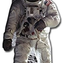 Star Cutouts SC119 Man Lifesize Cardboard Figure of Buzz Aldrin Astronaut 182cm Tall Perfect for Moon Landing Anniversary and Space Fans