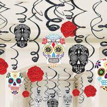 Amscan International ltd 670360 Day of The Dead Swirls Decoration Set