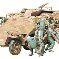 Tamiya 300035151 WWII Special Motor Vehicle, 1:35, 251/1, Half Chain Vehicle, Stuka on Foot, 4