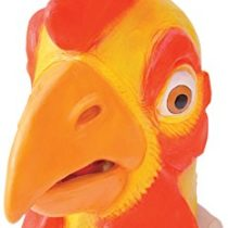 Bristol Novelty BM279 Chicken Overhead Mask, Yellow, Red, One Size