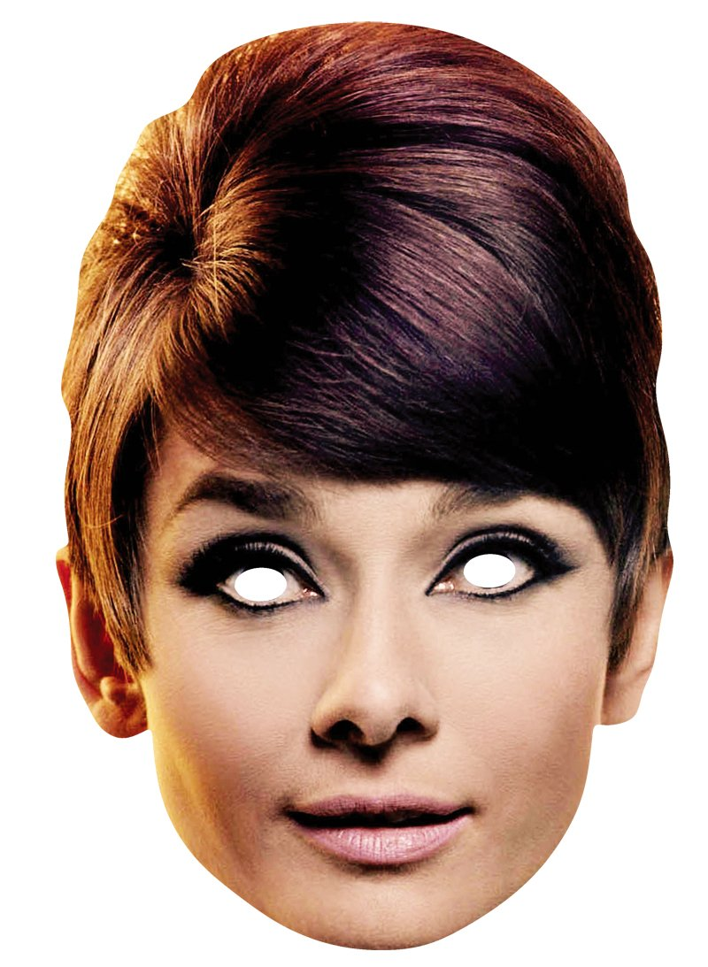 Star Cutouts Printed Card Mask of Audrey Hepburn