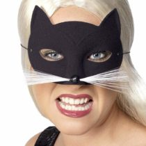 Smiffys Cat, Eyemask Whiskers – Black