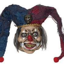 Bristol Novelty BM470 Deranged Jester Mask, One Size