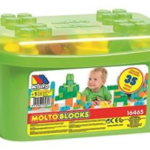 Molto–Container Blocks 35Pieces, Green (16465)