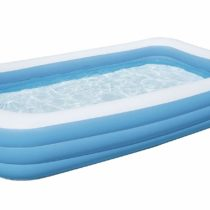 Bestway Deluxe Rectangular Inflatable Paddling Pool, Blue, 10 ft