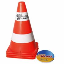New Sports 63086 Toy Traffic Cones Set of 4 Height 23 cm