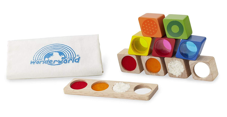 Andreu Toys WW-2511 Wonder Sensory Blocks, Multi-Colour, 8 x 17 x 20 cm