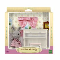 Sylvanian Families – Rabbit Sister Doll with Piano Set