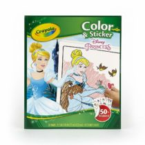 Crayola-Disney Disney Princess Colour and Sticker Book – Multicoloured