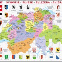 "'larsen K43Pieces ""Political Map Switzerland 70Pieces"