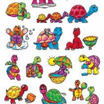 Avery Zweckform 53340Children's Stickers, Pack of 36, Tortoise Designs