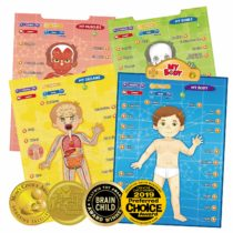 BEST LEARNING i-Poster My Body – Interactive Educational Human Anatomy Talking Game Toy System to Learn Body Parts, Organs, Muscles and Bones for Kids Aged 5 to 12