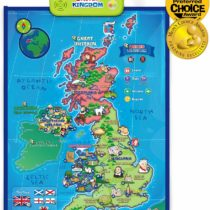 BEST LEARNING i-Poster My United Kingdom Interactive Map – Educational Talking Toy for Boys and Girls Ages 5 to 12 Years Old for Kids