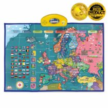 BEST LEARNING i-Poster My Europe Interactive Map – Educational Talking Toy for Boys and Girls Ages 5 to 12 Years Old for Kids