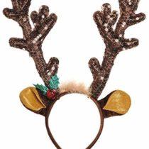 amscan Brown Sequined Antler Headband