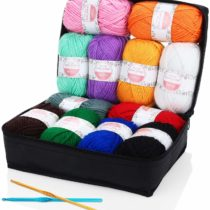 Acrylic Yarn – SOLEDÌ 12 Color*50g Beautifully Wrapped, 1200 Meters Smooth Soft Cotton 2 Crochet Styles Hand-Knit