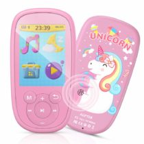"AGPTEK Bluetooth Kids MP3 Player, 2.4"" LCD Large Screen, Kids Music Player with Built-in Speaker, FM Radio and Video, A Gift for Kids(Pink)"