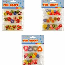 3 Assorted Wooden Beads Craft Packs