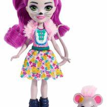 Enchantimals FXM76 Mayla Mouse Doll (6 Inch), and Fondue Animal Friend Figure, Multicolour