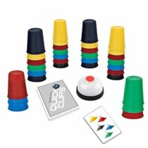 deAO Speedy Family Matching Quick Cup Stacking Board Game for Children and Adults