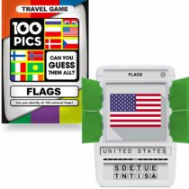 100 PICS World Flags Game – Educational Travel Flash Card Puzzle Games to Boost Brains