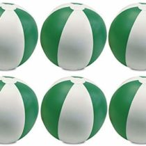 eBuyGB Pack of 12 Inflatable Colour Ball – Beach Pool Game, Green, 22 cm/9″