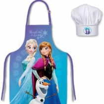 Disney Frozen Kids Apron and Hat Set 3 To 8 Years Polyester