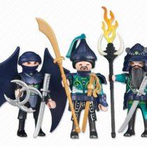 3 Green Samurai Knights
