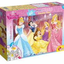 Disney 48250 De 2 Caras Coloreable Princesa, Piezas Puzzle Df Supermaxi Princess, Size-70 x 50 cm. with 60 Pieces, Multi Colour, One