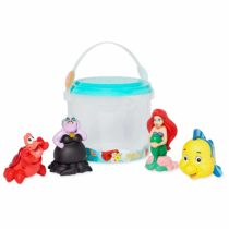 Disney Official Store Ariel Little Mermaid Bath Toy 4 Piece Set Tub Toy Playset