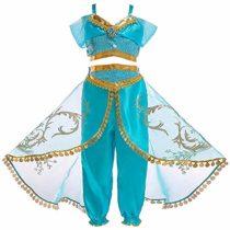 Atorcher Princess Costume for Girls Sequined Princess Costume Set Dress Up for Kids