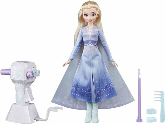Disney Frozen Sister Styles Elsa Fashion Doll With Extra-Long Blonde Hair, Braiding Tool and Hair Clips – Toy For Kids Ages 5 and Up