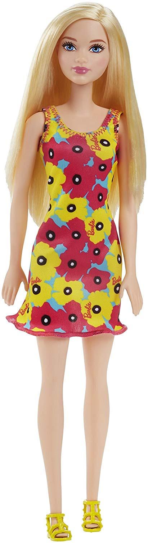 dvx87Dark Blonde Flower Dress Barbie Brand Entry Doll (Yellow)