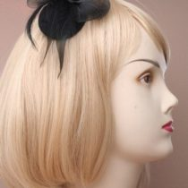 """""""Small Black Hat Fascinator on a Forked Clip. 4 Designs, 1 Supplied"""""""
