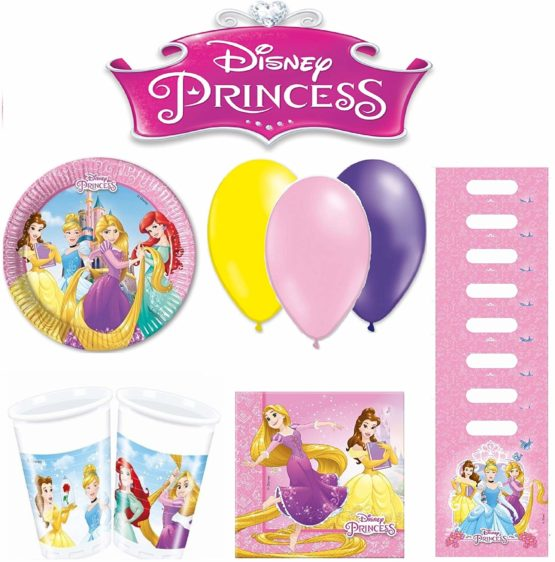 PRINCESS birthday party tableware 8 people
