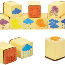 """EDUPLAY 220116 Weather Stamp Set of 12"""" Nature Temple, Multi Colour"""