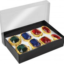 Boland 00636 Set of 8 Gemstone Rings